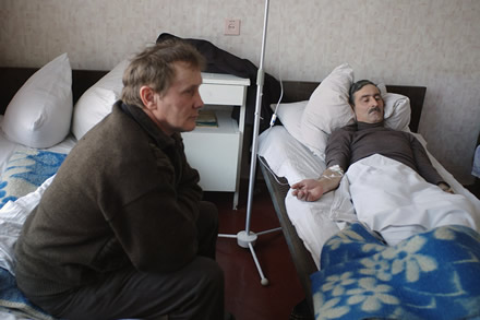 Chernobyl liquidators in hospital