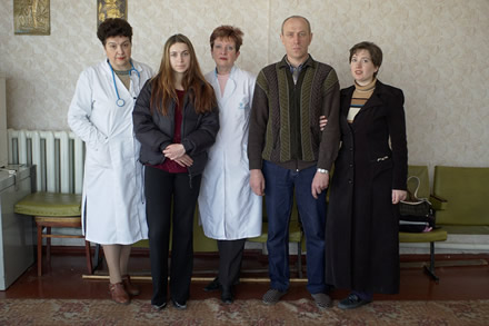 Humanity for Chernobyl's president with medicals and Chernobyl victims